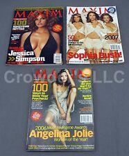 3 Maxim Magazine Issues 103 Jessica Simpson 107 Sophia Bush  108 Angelina Jolie