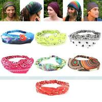 Fashion Women's Men's Stretchy Elastic Fabric Headband Head Hair Band Wrap Scarf