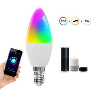 E14 Wifi Smart Life APP Remote Control Bulb LED Lamp for Alexa Google Home