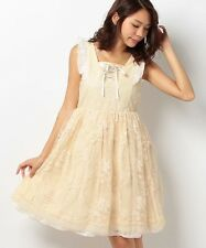 1352.BNWT!axes femme milk-color beatiful lace-layered princess dolly dress