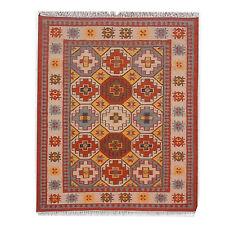 Large Kilim Rug Turkish Hand Knotted Hexagon Geometric 5'x8' Oriental Area Rug