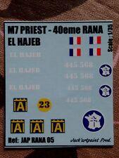 JAP RANA 05 * DECALS 2èmeDB   M7 priest 40eme RANA - EL HAJEB @ 1/35
