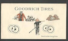 Ca 1920's COVER GOODRICH AUTO TIRES BEAUTIFULLY ILLUSTRATED IN COLOR MINT