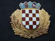 Croatia, police cap / hat badge, big