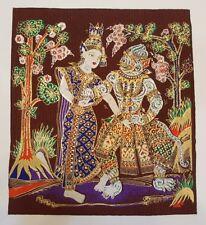 Hanuman Sida Thai Art Silk Paintings Ramayana Poster Print Home Decor Handmade