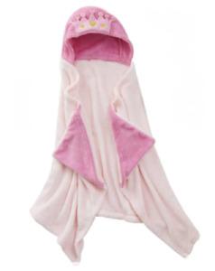 Pink Princess Hooded Throw Snuggle Blanket Crown Movie Night NWT Plush NEW