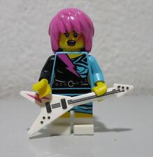 Rocker Girl Series 7 Guitar Pink Hair GEM GLAM Lego mini figure minifigure fig