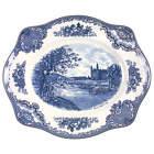 Johnson Brothers Old Britain Castles Blue  Oval Serving Platter 6164576