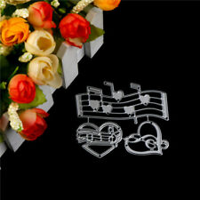 Music Heart Embossing Cutting Dies for Scrapbooking Decor Craft Card Making Mb