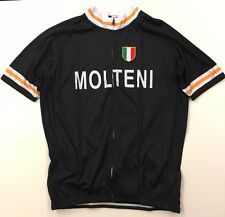 Molteni Eddy Merckx Black Retro Short Sleeve Jersey XL