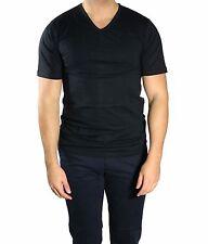 Herren T-Shirt Unterhemd V-Hals Gr.XL Schwarz