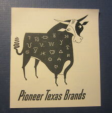 Old Vintage 1951 - S.P. RAILROAD - Pioneer TEXAS Cattle BRANDS - Coffee Shop
