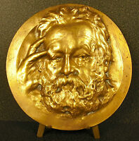 Medaillon XIX Porträt von Victor Hugo D' Ap Nadar Sc René Rozet Schüler Cavelier