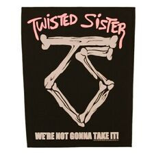 Xlg Twisted Sister We're Not Gonna Take It! Back Patch Hard Rock Sew On Applique