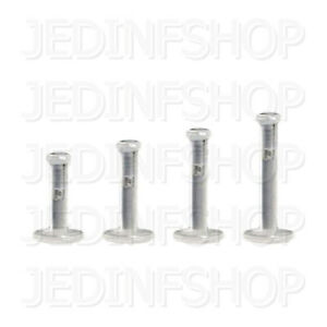 Retainer Hider - Labret Lip Stud | 1.2mm (16g) - 6mm 8mm 10mm | BioFlex Push Fit