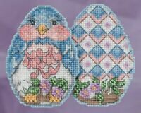 Mill Hill - Jim Shore - Bluebird Egg - Beaded Cross Stitch Kit - JS18-1816