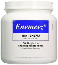 Enemeez Mini Enema 30 Single Use 5ml Docusate Sodium Disposable Tubes