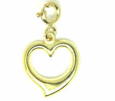 Yellow Gold Love Hearts Traditional Fine Charms & Charm Bracelets