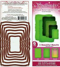Spellbinders Nestabilities Curved Rectangles  Etched Wafer Thin Die Set NEW