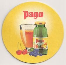 """""""Pago"""" - Bierdeckel der Fruchtsaftmarke aus Österreich"""