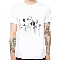 Musical Instruments Men's Cotton Funny Cool T-shirts Short Sleeve Tops Tee