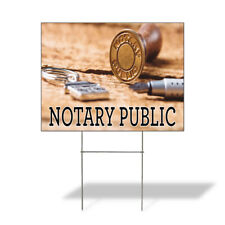 Weatherproof Yard Sign Notary Public A Outdoor Advertising Printing Lawn Garden