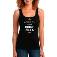 Bridezilla Bride Tank Top shirt Bridal Gift Present Hen Do Wedding Party
