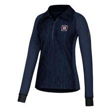 Chicago Fire MLS Adidas Women's Climalite Navy Blue Vertical Heather Jacket