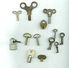 Assorted Antique Clock keys and others . 13 total.