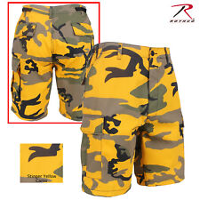 Rothco Colored Camo BDU Shorts - Men's Stinger Yellow Military Fashion Shorts