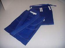 Brazilian Jiu Jitsu Gi for Mens - BLUE/WHITE 100% Cotton Preshrunk. Free Gi Belt