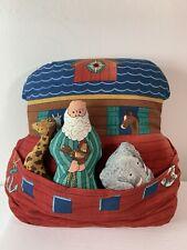 Noah's Ark Pillow With Interactive Noah And Animals. Cloth Material