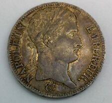 1809 W France Napoleon Bonaparte 5 Francs Silver  nice Original  Coin