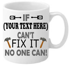 PERSONALISED FIX IT MUG Christmas Birthday Fathers/Mothers Day Gift Free Postage