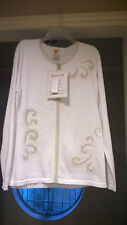 NWT! WOMAN EMBROIDERED CARDIGAN BY AMERI MODE XL-X-LARGE $ 135