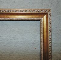 "Picture Frame Gilt Wood & Gesso for Portrait Painting Print Mirror 24"" x 18 1/4"""