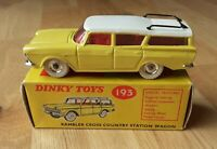 Dinky Toys Nash Rambler Cross Country Station Wagon #193 VNM model & Box Exc+