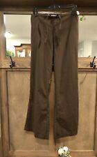 Landau Scrubs Pants Size Xl Chocolate Brown Elastic & Tie Waist New W/Tag Flared