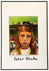 Peter Blake - Alice (1970) - FRAMED SIGNED RARE