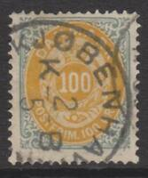 Denmark - 1875/1903, 100 ore Yellow-Orange & Grey stamp - Used - SG 78 or 79