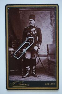C#437 CDV: Koblenz / Offizier a. Einquartierung Türkei Osmanisches Reich Orden