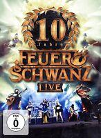 FEUERSCHWANZ - 10 JAHRE FEUERSCHWANZ LIVE (EXTENDED EDITION) CD+DVD NEU