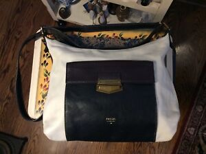 Fossil Three Color Crossbody Leather Hobo Bag