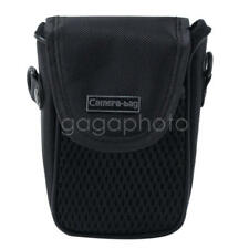 Black Mesh Digital Camera Pouch Case Bag Sleeve Protector with Belt Strap Buckle