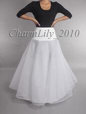 white A line bridal wedding petticoat prom skirt underskirt crinoline slip skirt