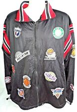 358a5499c1129 EAST II WEST Mens Jacket Size LARGE Basketball Patches City Atheltic Front  Zip