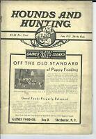 NL-064 Hounds and Hunting Magazine June July 1933 Issues Beagles Dogs Canine