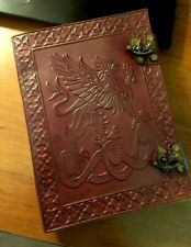 Leather Bound Journal Writing Notebook (Dragon Design)