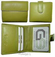 Woman's leather Billfold wallet. Ladies compact wallet, card case w/Coin purse 1