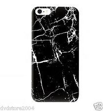 Pellicola + Custodia Back Cover Marmo Nero Hard Rigida per Apple iPhone 6S 4.7